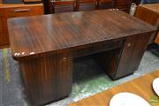 Sale 8528 - Lot 1008 - German Art Deco Twin Pedestal Desk with Fitted Drawers (H 78 x L 165 x W 83cm)