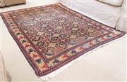 Sale 8550H - Lot 82 - A Persian carpet with geometric design on a black ground, L 172 x W 140cm