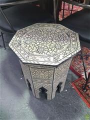Sale 8648C - Lot 1041 - Mother of Pearl Inlaid Octagonal Top Side Table