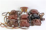 Sale 8757 - Lot 16 - Large Collection Of Vintage Cameras Including Voightlander