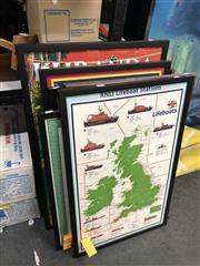 Sale 8819 - Lot 2176 - Collection of Framed Tea Towels