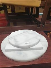 Sale 8912 - Lot 1090 - Three Varied White Marble Cheese Boards (20cm, 20cm & 30cm)