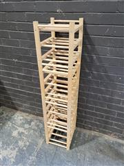 Sale 8962 - Lot 1065 - Four Piece Stackable Timber Stand (H:34 W:34 D:30cm)