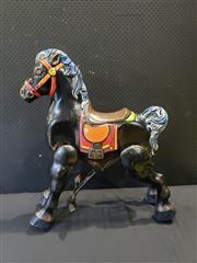Sale 9002 - Lot 1005 - Vintage Metal Mobo Horse (h:82 x w:72cm)