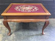 Sale 9006 - Lot 1088 - Tapestry Top Coffee Table (h:38 x w:68 x d:48cm)
