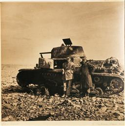 Sale 9093 - Lot 51 - WWII Military Sepia Photograph Of A Tank (Photo Size 31cm x 30cm)