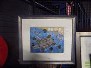 Sale 8483 - Lot 2077 - Artist Unknown - Turtle, acrylic on canvas on board, framed, unsigned