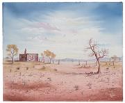 Sale 8506A - Lot 5013 - John Dynon (1954 - ) - Landscape in Pink and Blue, 1980 40.5 x 50.5cm