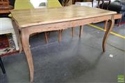 Sale 8523 - Lot 1075 - Oak Dining Table on Cabriole Legs (H 77 x L 150 x D 80cm)