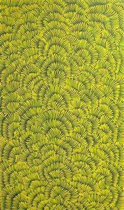 Sale 8657E - Lot 5043 - Mary Rumble Pitjara (c1957 - ) - Bush Tucker, Awelye 150 x 90cm (stretched and ready to hang)