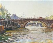 Sale 8665 - Lot 568 - Will Ashton (1881 - 1963) - Pont Louis Phillipe, Paris 36 x 43.5cm