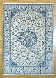 Sale 8680C - Lot 5 - Super Fine Persian Wool with Silk Inlaid 347cm x 244cm