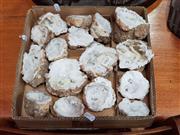 Sale 8717 - Lot 1067 - Box Split Quartz Geodes