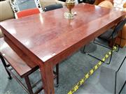 Sale 8724 - Lot 1011 - Nicholas Dattner Ironwood Top Dining Table (H: 97 L: 180 W: 97cm)
