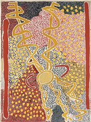 Sale 8808 - Lot 547 - Minnie Napanangka (c1930 - ) - Wallaby Dreaming, 1992 100 x 75cm