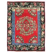 Sale 8810C - Lot 31 - A Turkish Vintage Bessarabian Rose Kelim In Handspun Wool, 255 x 332cm