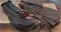 Sale 8934H - Lot 3 - A pair of RM Williams boots and bag and two Drizabones, both size M.