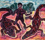 Sale 8958A - Lot 5052 - Eric L. Stewart (1903 - 1972) - Crocodile Dancing, 1965 75 x 85 cm (frame: 79 x 89 x 5 cm)