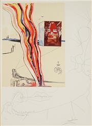 Sale 8959A - Lot 5016 - Salvador Dali (1904 - 1989) - Liquid and Gaseous Television, 1975 70 x 62 cm (frame: 116 x 88 x 5 cm)