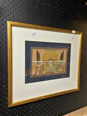 Sale 9058 - Lot 2057 - Indo Persian School gouache painting, frame: 42 x 48 cm