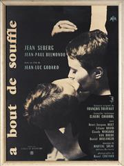 Sale 9072 - Lot 2037 - Jean-Luc Godard Breathless (a bout de souffle) reproduction poster 63 x 46cm -