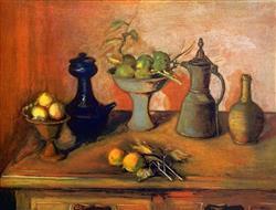 Sale 9091A - Lot 5004 - Margaret Olley (1923 - 2011) - Turkish Pots and Lemons, 2004 79 x 108 cm (sheet)