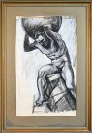 Sale 8301A - Lot 35 - Belinda Wilson (1954 - ) - Atlas 118 x 71cm