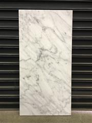 Sale 8402B - Lot 38 - White Marble Table Top - 120cm x 60cm, full bullnose edge, slight imperfections