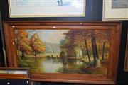 Sale 8419T - Lot 2068 - H. Ethevenaux - Autumn Country Landscape, oil on board, 59 x 118.5cm, signed lower left