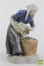 Sale 8490 - Lot 284 - Royal Copenhagen Figure of a Woman with Pail