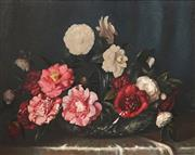 Sale 8575 - Lot 570 - Albert Sherman (1882 - 1971) - Still Life (Flowers) 48 x 61cm