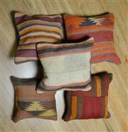 Sale 8693C - Lot 100 - 5 x Persian Pillow cases 40cm x 40cm