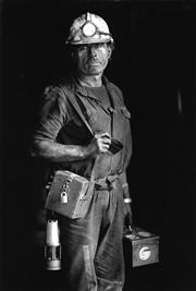 Sale 8721A - Lot 27 - Andrew Meares - Deputy Deiter Barz, Westcliff Coal Miner, 1995 30 x 20cm