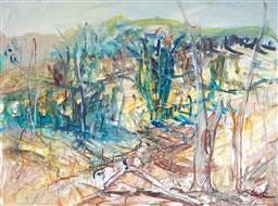 Sale 9116 - Lot 538 - Patrick Shirvington (1952 -) Bathurst Hills, 2007 watercolour 55.5 x 74.5cm (frame: 80 x 99 x 3 cm) signed lower right