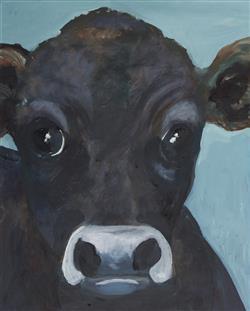 Sale 9096A - Lot 5097 - Eddi Kewley - Inconsolabull 49.5 x 39.5 cm (frame: 64 x 54 x 3 cm)
