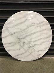 Sale 8402B - Lot 39 - White Marble Table Top - 80cm diameter, slight imperfections