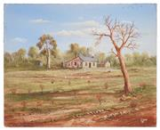 Sale 8506A - Lot 5014 - John Dynon (1954 - ) - Chook Farm at Silverton, 1986 40.5 x 50.5cm