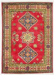 Sale 8536A - Lot 12 - A Caucasian Handspun Wool Carpet Afghan 143cm x 103cm RRP $560.00