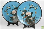 Sale 8516 - Lot 48 - Japanese Cloissonne Plates