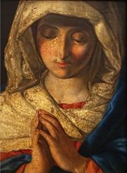 Sale 8633 - Lot 564 - After Botticelli (1445 - 1510) - Madonna 29.5 x 21cm