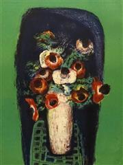 Sale 8696A - Lot 5026 - Sidney Nolan (1917 - 1992) - Untitled (Still Life Poppies) 64.5 x 49.5cm (frame: 83.5 x 68cm)