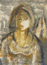 Sale 8704 - Lot 529 - Judy Cassab (1920 - 2015) - Portrait 35.5 x 25cm