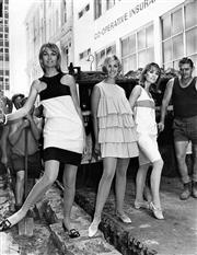 Sale 8721A - Lot 28 - Artist Unknown - Paper dresses previewed in Australia Square, Sydney, NSW 1966 25 x 20cm