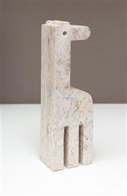Sale 8741A - Lot 19 - A travertine Giraffe, H x 26cm