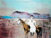 Sale 8958A - Lot 5005 - Sidney Nolan (1917 - 1992) - Steve Hart Dressed As A Girl (Ned Kelly Series) 48 x 65cm (sheet: 54.5 x 69.5 cm)