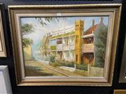 Sale 8978 - Lot 2008 - Artist Unknown Terrace Houses acrylic, 60 x 74cm (frame), signed