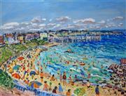 Sale 9002A - Lot 5017 - Brian Kewley (1933 - ) - Brighton Beach, 1975 49 x 64 cm
