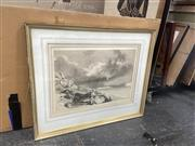 Sale 9087 - Lot 2061 - Artist Unknown, Storm Near Castle, Watercolour, SLL, 38x55.5cm