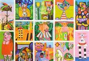 Sale 8301A - Lot 24 - Artist Unknown (XX) - Untitled, 1995 (Homage to Albert Tucker) 90.5 x 128.5