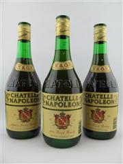 Sale 8398A - Lot 891 - 3x Chatelle Napoleon VSOP French Brandy